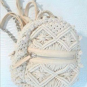 8cd936d6a5 Zara Bags - Zara Macrame Crochet mini backpack